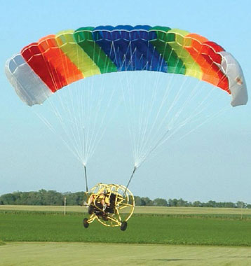 Figure 3-102. Powered parachute with the wing inflated.