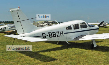 Figure 3-70. Rudder on a Piper Cherokee Arrow.