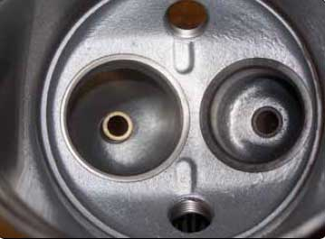 Figure 1-21. View of valve guide installed on a cylinder head.