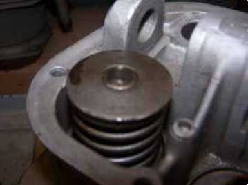 Figure 1-22. Stem keys forming a lock ring to hold valve spring retaining washers in place.