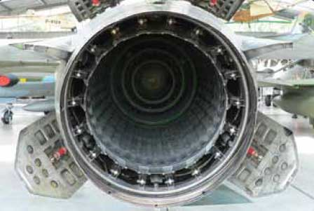 Figure 3-50. An example of a variable area exhaust nozzle used to increase or decrease exhaust flow during afterburn.