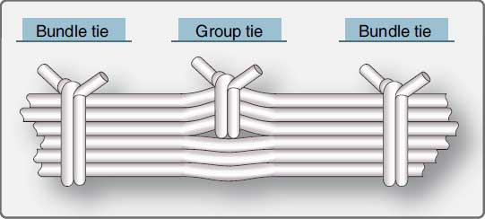 Figure 4-84. Group and bundle ties.