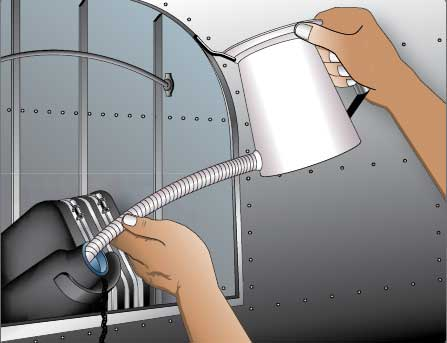 Figure 6-22. Filling an oil tank.