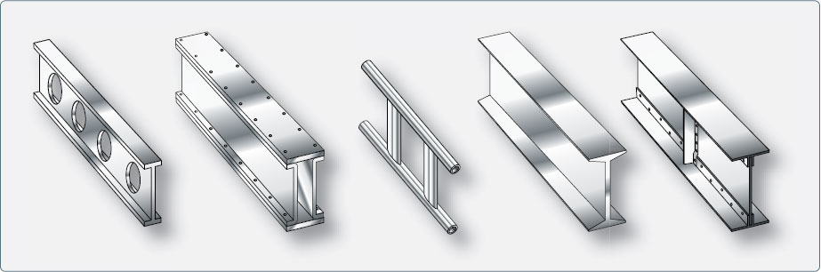 Figure 1-26. Examples of metal wing spar shapes.