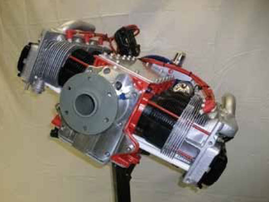 Figure 11-18. Aeromax direct drive, air-cooled, six-cylinder engine.