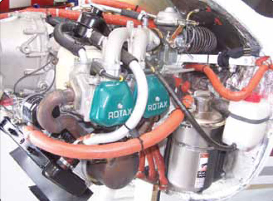 Figure 11-6. Typical four cylinder, four-stroke horizontally opposed engine.