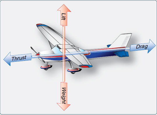 Figure 2-7. Forces in action during flight.