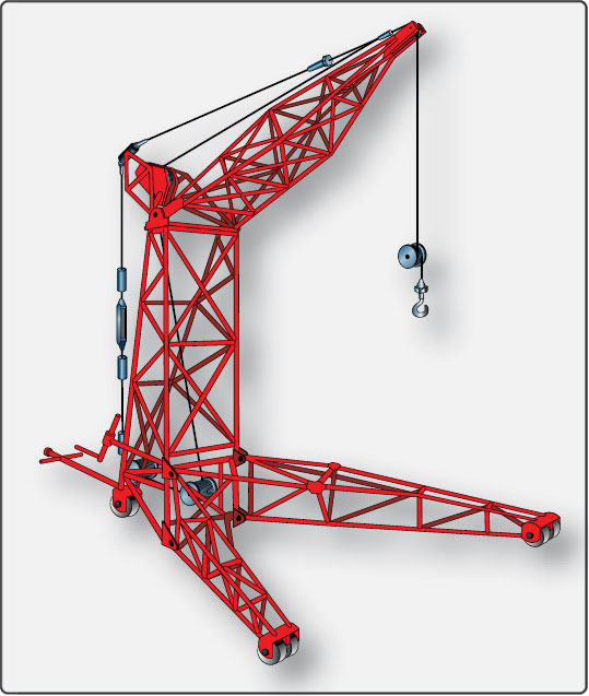 Figure 8-10. Hoist and frame assembly used for engine removal.