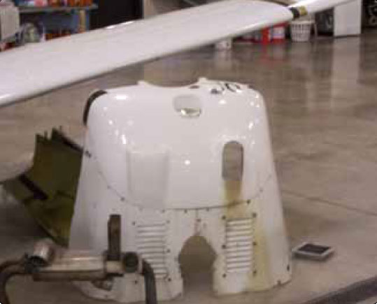 Figure 8-13. Cowling removed and stored out of the way.