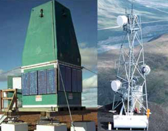 Figure 11-135. Low power requirements allow remote ADS-B stations with only solar or propane support. This is not possible with ground radar due to high power demands which inhibit remote area radar coverage for air traffic purposes.