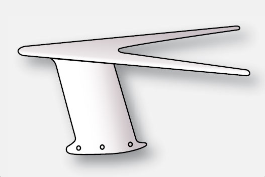 Figure 11-91. The V-shaped VOR navigation antenna is a common dipole antenna.