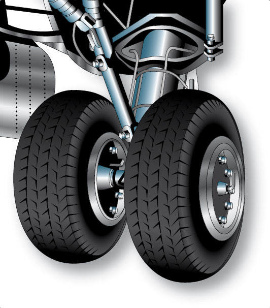 Figure 13-8. Dual main gear of a tricycle-type landing gear.