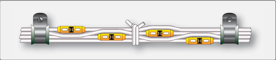 Figure 9-132. Staggered splices in wire bundle.