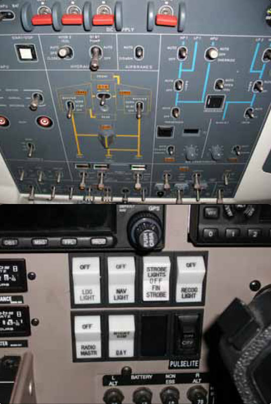 Figure 9-167. Toggle and rocker switches.