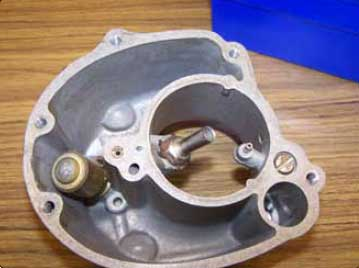 Figure 2-11. Float chamber (bowl) with float removed.