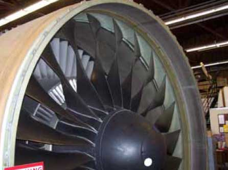 Figure 3-36. The air that passes through the inner part of the fan blades becomes the primary airstream.