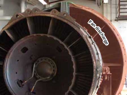 Figure 3-37. Air from the fan exhaust can be discharged overboard through short ducts directly behind the fan.