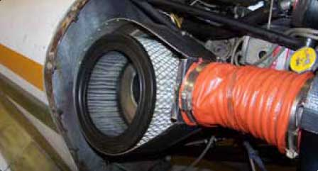 Figure 3-6. Location of air filter.
