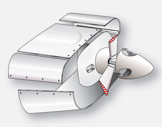 Figure 1-43. Typical cowling for a horizontally opposed reciprocating engine.