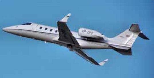 Figure 2-17. Winglets on a Bombardier Learjet 60.