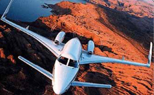 Figure 2-19. The Beechcraft 2000 Starship has canard wings.