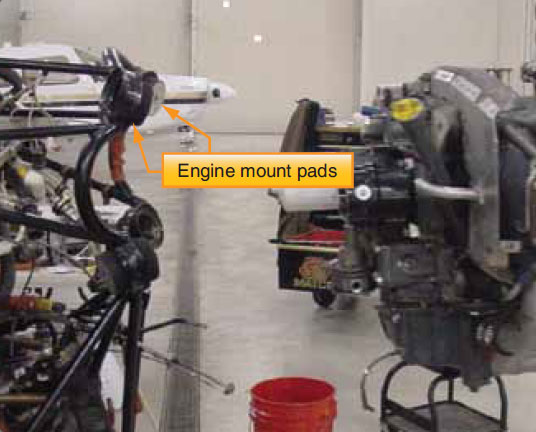 Figure 8-15. Engine clear of mount.