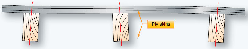 Figure 6-4. A distorted single plywood structure.