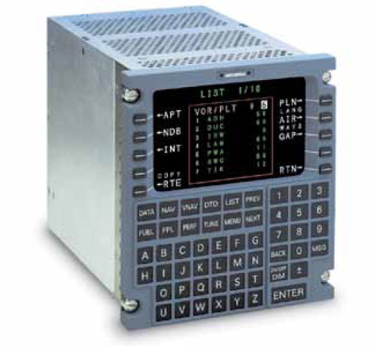 Figure 10-127. The control display unit (CDU) of an FMS.