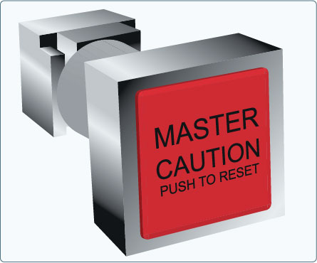 Figure 10-129. A master caution switch removed from the instrument panel.