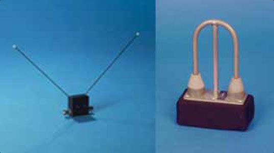 Figure 11-114. Glideslope antennas—designed to be mounted inside a non-metallic aircraft nose (left), and mounted inside or outside the aircraft (right).
