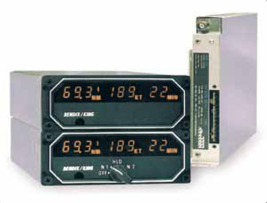 Figure 11-120. Distance information from the DME can be displayed on a dedicated DME instrument or integrated into any of the electronic navigational displays found on modern aircraft. A dual display DME is shown with its remote mounted receiver.