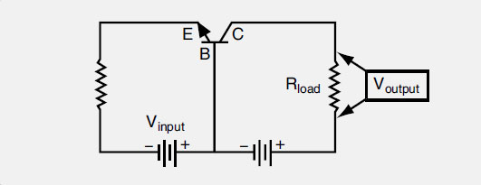 Figure 11-52. A common-base amplifier circuit for DC current.