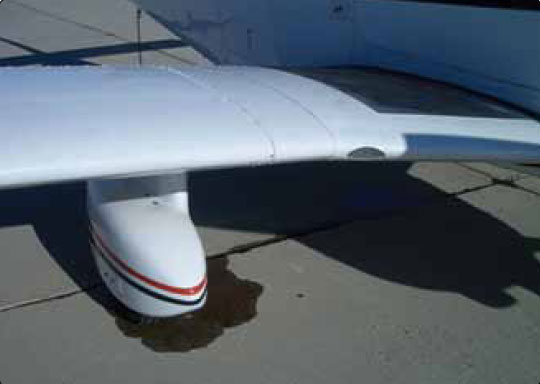 Figure 13-120. The cause of all aircraft brake leaks must be investigated, repaired, and tested before releasing the aircraft for flight.
