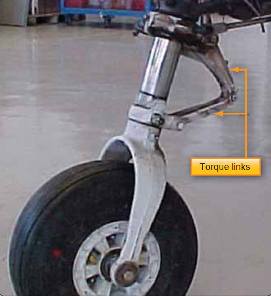 Figure 13-19. Torque links align the landing gear and retain the piston in the upper cylinder when the strut is extended.