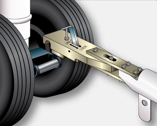 Figure 13-22. A towing lug on a landing gear is the designed means for attaching a tow bar.