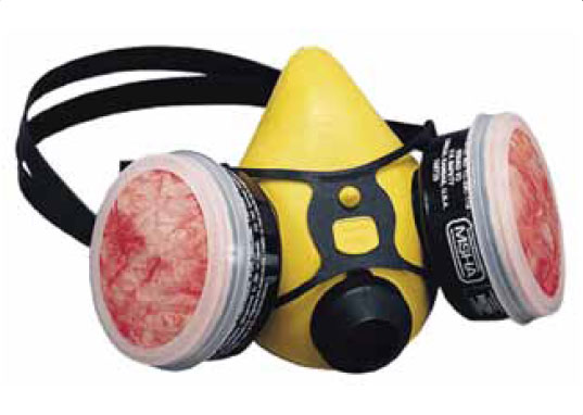 Figure 8-9. Charcoal-filtered respirator.