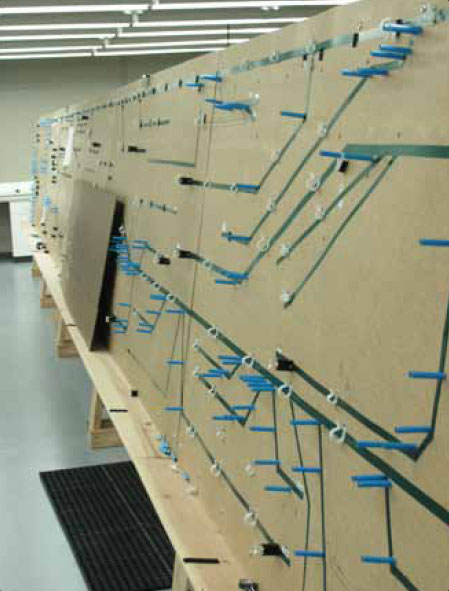 Figure 9-129. Cable harness jig board.