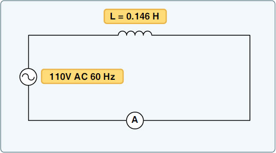 Figure 9-18. AC circuit containing inductance.