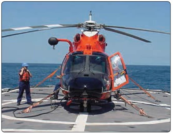 Figure 1-13. Example of mooring of a helicopter.