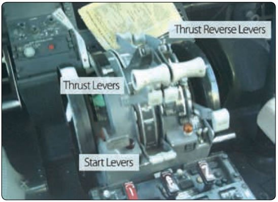 Figure 1-18. Turbofan engine control levers.