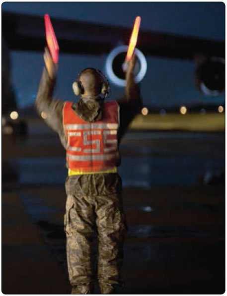 Figure 1-26. Night operations with wands.
