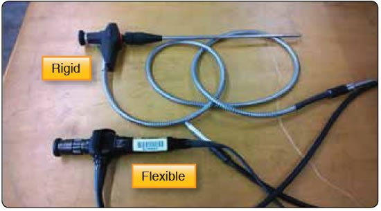 Figure 10-8. Rigid and flexible borescopes.