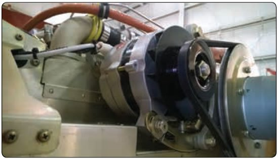 Figure 12-317. Belt driven alternator for small single engine aircraft.