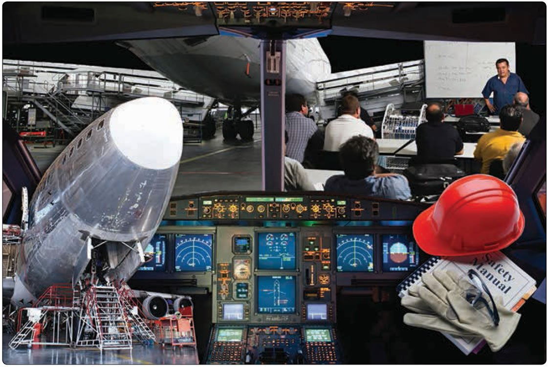 Figure 14-3. Aviation maintenance technicians (AMTs) are confronted with many human factors due to their work environments.